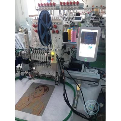 1201R 12 needles single head embroidery machine