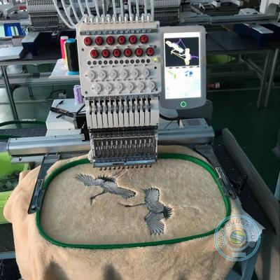 1201T 12 needles single head cap embroidery machine