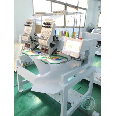 High speed 902HL 2 head 9 needles embroidery machine