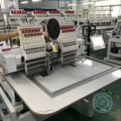 High speed 1202HL 2 head 12 needles embroidery machine